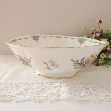 Royal Albert vintage 1990 large  bowl called Fragrant Flowers