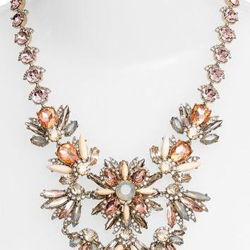 Marchesa Jeweled Cluster Statement Necklace | Nordstrom