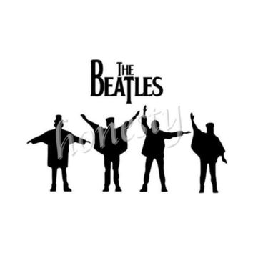 Beatles Music Wall Home Glass Window Door Car Sticker Laptop Auto Truck Black Vinyl Decal Sticker Decor Gift 17.1cmX11.5cm