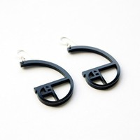 golden ratio spiral acrylic earrings