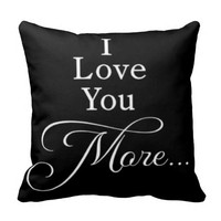 Black Pillow Love You More Fashion Design