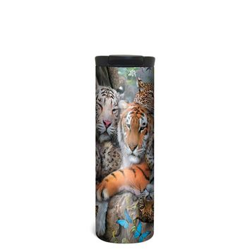 Big Cat Cuddle Barista Tumbler Travel Mug - 17 Ounce, Spill Resistant, Stainless Steel & Vacuum Insulated