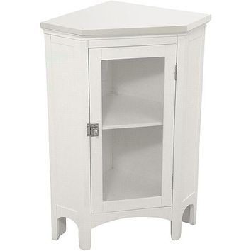 Classy Collection Corner Floor Cabinet. White - Walmart.com