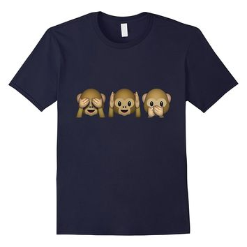 Super Cute Monkey Emoji T-shirt - See No Evil