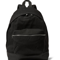 Sandro - Leather-Trimmed Canvas Backpack | MR PORTER
