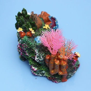 New Arrival Aquarium Artificial Mounted Coral Reef Fish Cave Tank Decoration Ornament Background Scenery