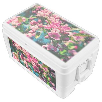 Pink Crab Apple Flowers Chest Cooler