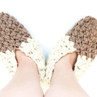 CROCHET PATTERN - DIY - slippers wool, warm, bulky yarn, slippers crochet pattern, women's slippers, men's slippers, unisex, quick gift idea