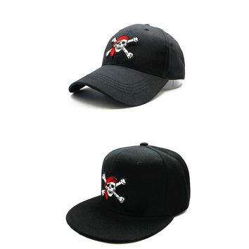 Trendy Winter Jacket LDSLYJR 2018 Pirate Skull embroidery cotton Baseball Cap hip-hop cap Adjustable Snapback Hats for kids and adult size 141 AT_92_12