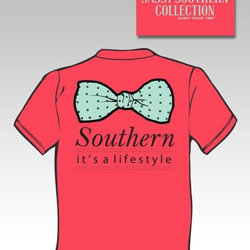 Sassy Frass Funny Southern Lifestyle Bow Comfort Colors Sweet Girlie Bright T Shirt