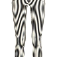 Rag & bone - The Capri cropped striped mid-rise skinny jeans