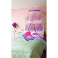 Three Cheers Purple/White/Fuchsia Tie Dye Canopy
