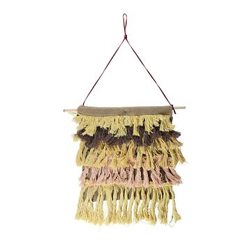 "13"" Rustic Neutral Tones Miniature String Shade Wall Art Decoration"