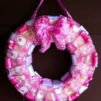 Baby Girl Ribbon Wreath for Hospital Room Door