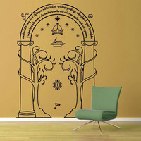 Door of Dorrin Silhouette - Tolkien - Wall Decal