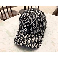 Dior 2019 new men's and women's three-dimensional embroidery baseball cap black
