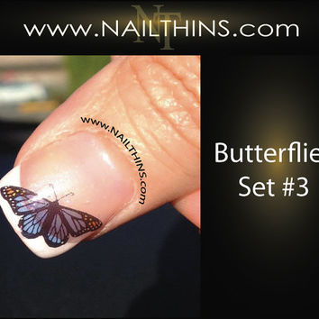 BUTTERFLIES Nail Decal Butterfly Set No 3 NAILTHINS by NAILTHINS