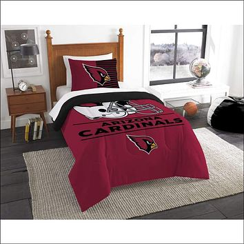 """Cardinals OFFICIAL National Football League, Bedding, """"""""Draft"""""""" Printed Twin Comforter (64""""""""x 86"""""""") & 1 Sham (24""""""""x 30"""""""") Set  by The Northwest Company"""
