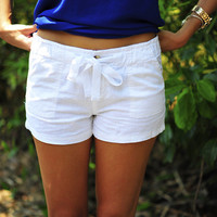 Feeling So Fresh Linen Shorts: White | Hope's