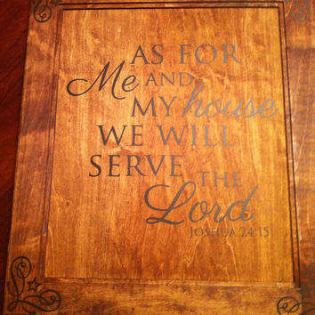 As for me and my house we will serve the lord Wooden Wall Art Sign