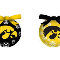 Iowa Hawkeyes LED Box Set Ornaments