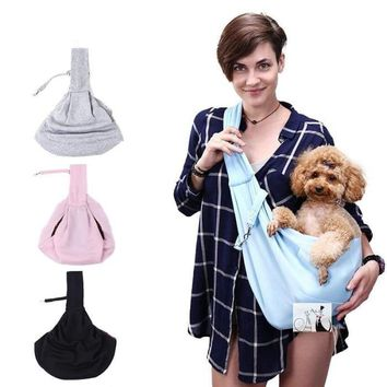 Hands-Free Reversible Small Dog Carrier Bag
