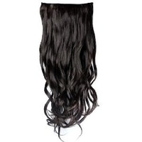 "Jovivi 20"" 135g Long Curly Clip-on Hair Extension Wigs Chestnut natural Black"