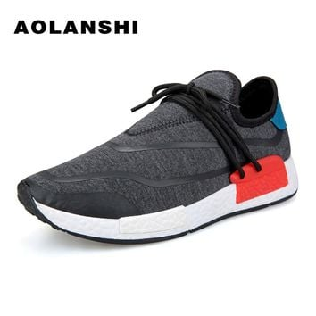 AOLANSHI Breathable Cotton Lace-Up Sport Shoes Mens Hard-Wearing Soles Deodorant Running Shoes New Personality Tide Shoes 39-44