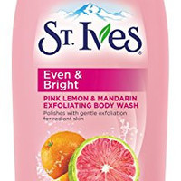 St Ives Even & Bright Body Wash, Pink Lemon and Mandarin Orange 24 oz
