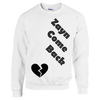 ZAYN MALIK Come Back Love One Direction Sweatshirt