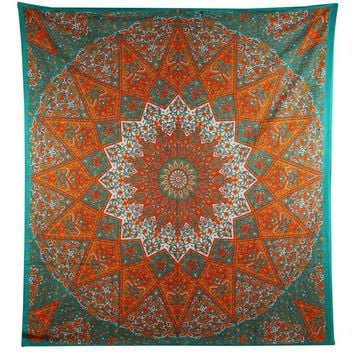1 X Queen Indian Star Mandala Psychedelic Tapestry Hippie Bohemian Wall Hangi...