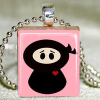 Lil Ninja Scrabble Pendant With Nec.. on Luulla
