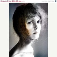 ON SALE 25% OFF Art, Photography, Surreal Photography, Woman Portrait, Ethereal Photo Montage, Fine Art Print, Photomontage, Collage, Painte