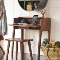 Foldaway Desk and Set Me Down Anywhere Stool - VivaTerra