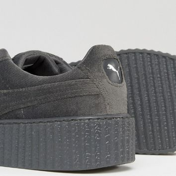 Puma X Fenty Velvet Creepers In Gray at asos.com