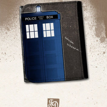 Doctor Who TARDIS leather wallet