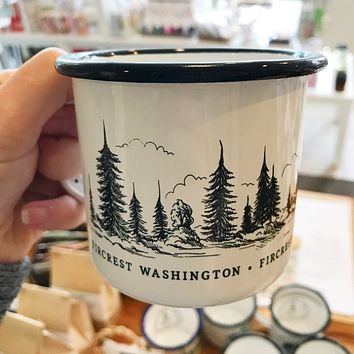 Fircrest Tree Wrap Enamel Mug
