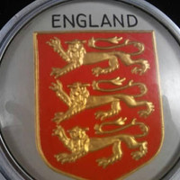 Now On Sale Richard The Lion Hearted Shield - English Car Emblem - Crest Of England - 1960's 1970's Collectible Car Logo