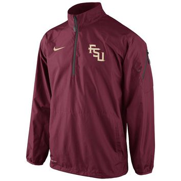 Nike Florida State Seminoles Lockdown Half-Zip Storm-FIT Performance Jacket - Men