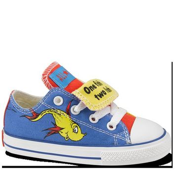 e22ec66c8987 Blue   Yellow Dr Seuss Baby Shoes   Baby Converse Shoes