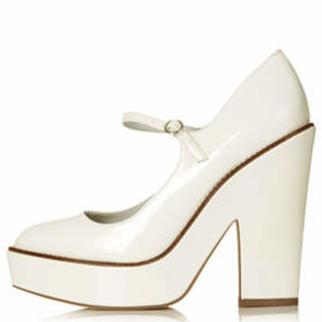 SELENA Mary Jane Platforms - White