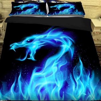 Cool 3D Dragon Bed Linen Bedding Sets Comforter Bed Cover Quilt Cover Galaxy Duvet Cover Set Queen King Size Bedding Double Bed SheetAT_93_12