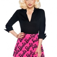 Barbie Logo Skirt in Hot Pink
