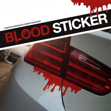 Scary Horrible Blood Stain Blood Drops for Tail Light Hellaflush Car Styling Reflective Vinyl Sticker Auto Refitting Decor Decal