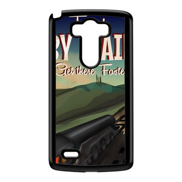 Travel by train Black Hard Plastic Case for LG G3 by Nick Greenaway