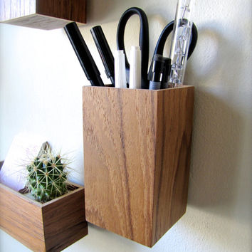 Hanging Organizer Pencil Holder From Thewoodybeckers On Etsy