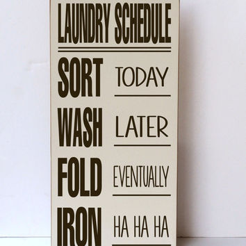 Laundry Subway Art Wood Sign - Laundry Room Decor - Home Decor Sign - Laundry Room Sign -Typography Word Art - You Pick Colors