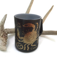 Vintage Zodiac Mug - Cancer Coffee Mug - Vintage Cancer Coffee Cup