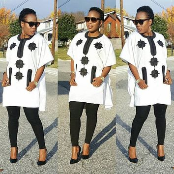 African women clothing Dashiki top with pants-Multiple Colors