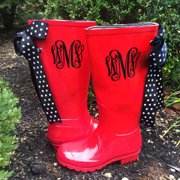 Best Monogrammed Rain Boots Products on Wanelo